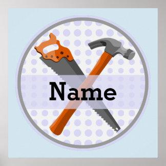 Poster Conception personnalisée nommée d'outils pour des