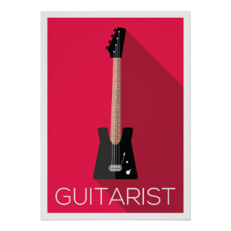 Poster Conception plate de guitariste