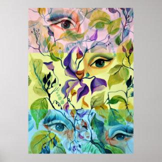 Poster Conception surréaliste psychédélique utopique de
