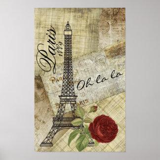 Poster Conception vintage de Paris