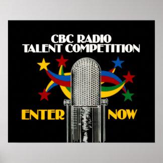 Poster Concurrence par radio de talent de CBC - promo