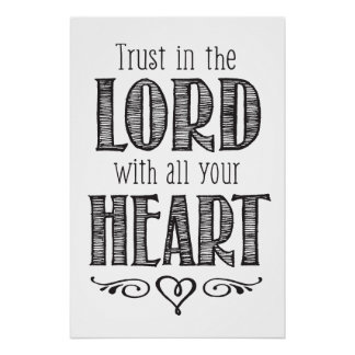 Poster Confiance dans le seigneur avec toute votre copie