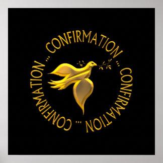 Poster Confirmation d'or et Saint-Esprit