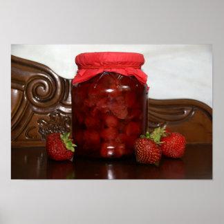 Poster confiture de fraise