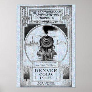 Poster Confrérie des pompiers locomotifs et des