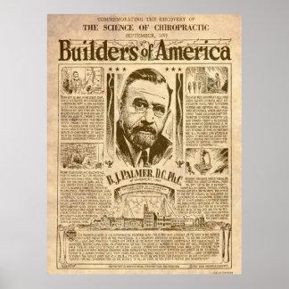 Poster Constructeurs d'affiche de l'Amérique