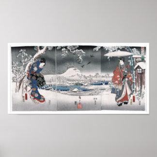 Poster Conte de bon Japonais de Genji Toyokuni Hiroshige