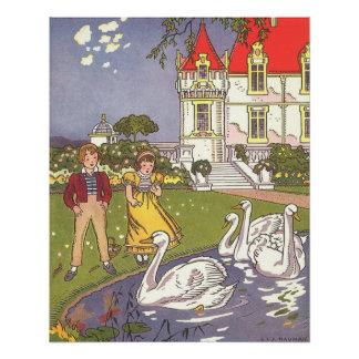 Poster Conte de fées vintage, le vilain petit canard par