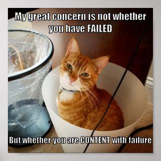 Poster Contenu avec l'échec