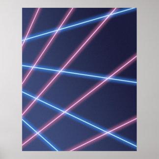 Poster Contexte à rayon laser de portrait d'école