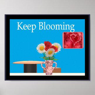 Poster Continuez à fleurir (l'affiche d'encouragement)