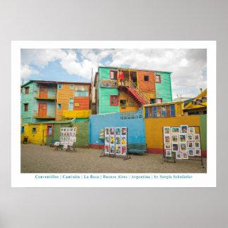 Poster Conventillos dans Caminito, Buenos Aires