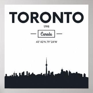 Poster Coordonnées noires et blanches de ville de