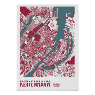Poster Copenhague Map RB