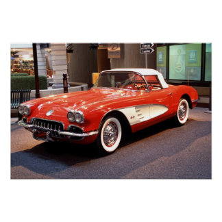 Poster Copie 1960 de Chevrolet Corvette