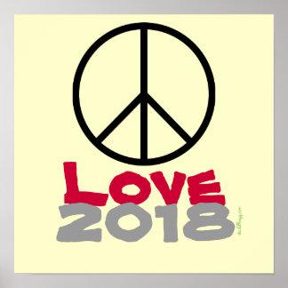 Poster Copie 2018 d'art d'affiche d'amour de paix