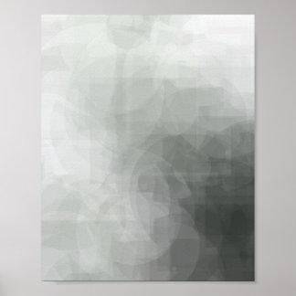 Poster Copie abstraite verte 8x10 de formes