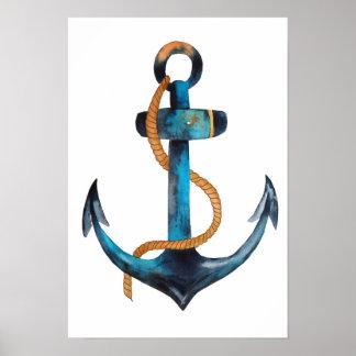 Poster Copie bleue d'ancre