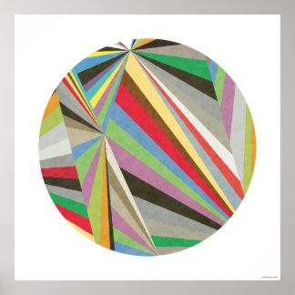 Poster Copie colorée multi géométrique I d'art