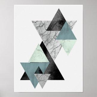 Poster Copie côtière d'art de triangle de tonalités
