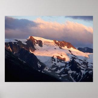Poster Copie d'affiche de coucher du soleil de sommet