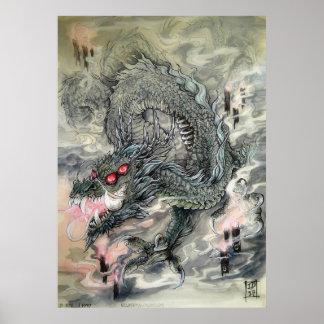 Poster Copie d'affiche de dragon de bougie