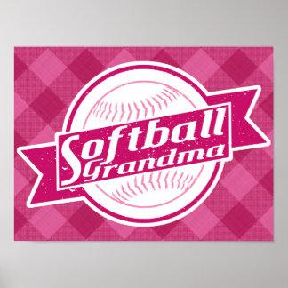 Poster Copie d'affiche de grand-maman du base-ball