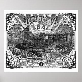 Poster Copie d'affiche de l'illustration 24 x 20 de Grand