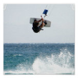 Poster Copie d'affiche de saut de Kiteboarding