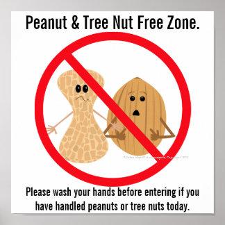 Poster Copie d'allergie alimentaire de zone franche