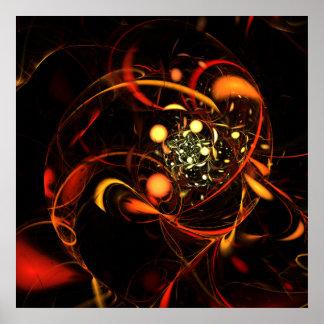 Poster Copie d'art abstrait de battement de coeur