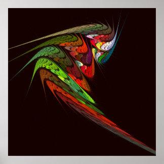 Poster Copie d'art abstrait de caméléon