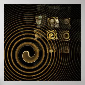 Poster Copie d'art abstrait d'hypnose