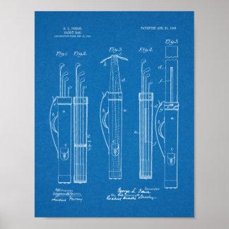 Poster Copie d'art de brevet de conception de sac de