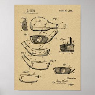 Poster Copie d'art de brevet de conception de tête de
