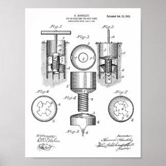 Poster Copie d'art de brevet de conception de trou de