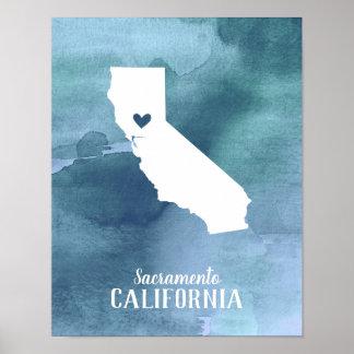 Poster Copie d'art de la Californie personnalisée par