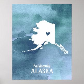 Poster Copie d'art de l'Alaska personnalisée par