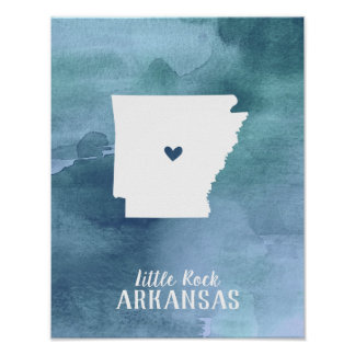 Poster Copie d'art de l'Arkansas personnalisée par