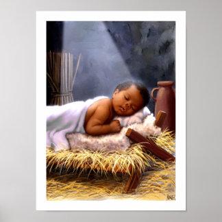 Poster Copie d'art de peinture de Jésus de bébé
