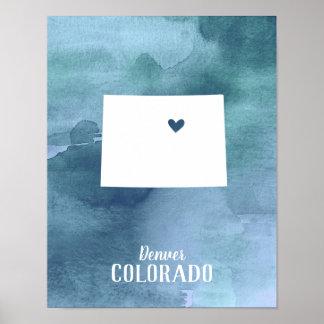 Poster Copie d'art du Colorado personnalisée par
