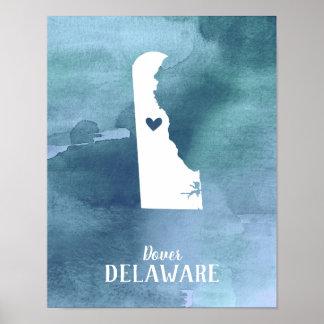 Poster Copie d'art du Delaware personnalisée par