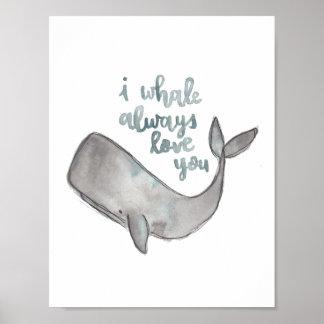 Poster Copie de baleine