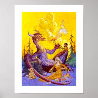 Poster Copie de barbecue de dragon
