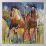 Poster Copie de chevaux de course