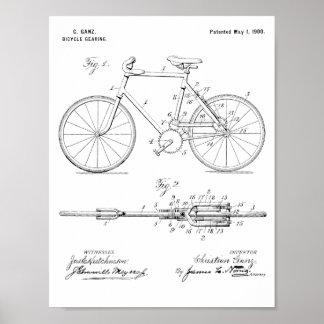 Poster Copie de dessin d'art de brevet de vitesse de 1900