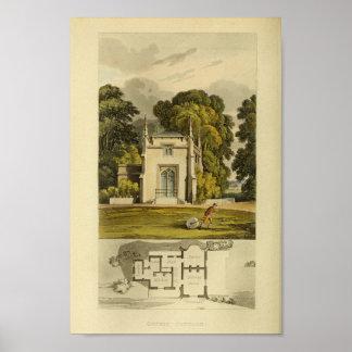 Poster Copie de disposition de cottage de conception de