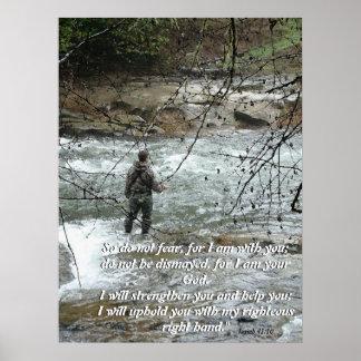 Poster Copie de foi de 41:10 d'Isaïe de rivière de