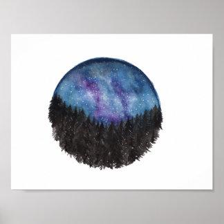 Poster Copie de galaxie de forêt