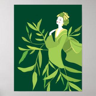 Poster Copie de geisha de thé vert